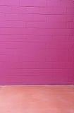 Roter Violet Cinder Block Brick Wall Rose-Boden-Hintergrund Lizenzfreie Stockfotografie