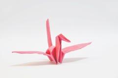 Roter Vogel gebildet vom Papier lizenzfreie stockfotografie