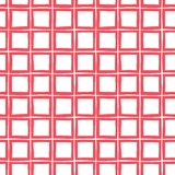 Roter von Hand gezeichneter Plaid-Vektor-nahtloses Muster Wunderlicher moderner klassischer Schottenstoff-Hintergrund lizenzfreie abbildung