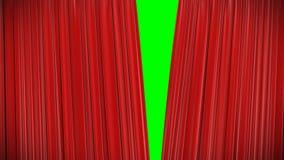Roter Vorhang, Öffnung und schließende Animation 3d stock video footage