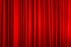 Roter Vorhang lizenzfreie stockfotos