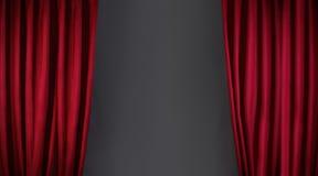 Roter Vorhang oder drapiert lizenzfreies stockfoto