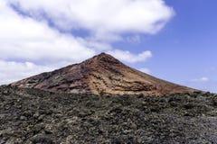 Roter Vulkan - Nationalpark Timanfaya lizenzfreie stockfotos