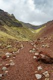 Roter vulkanischer Krater, Berg tarawera, Neuseeland 5 lizenzfreies stockfoto