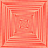 Roter weißer abstrakter Hintergrund Psychedelische Tapete Lizenzfreies Stockbild