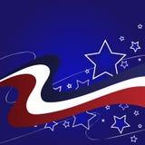 Roter weißer blauer Stern-Hintergrund stockbild