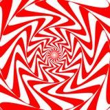 Roter weißer Strudelzusammenfassungs-Turbulenzhintergrund Psychedelische Tapete Stockbilder