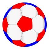 Roter weißer und blauer Fußball Lizenzfreie Stockfotografie