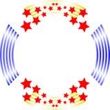 Roter weißer und blauer Kreishintergrundrahmen lizenzfreies stockbild