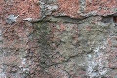 Roter weißer Wand Hintergrund Alte Grungy Backsteinmauer-horizontale Beschaffenheit Brickwall-Hintergrund Stonewall-Tapete Weinle Stockbild