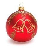 Roter Weihnachtsball Stockbild