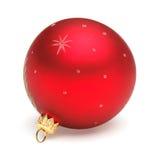 Roter Weihnachtsball Lizenzfreies Stockfoto