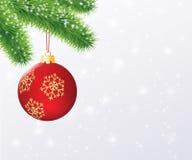 Roter Weihnachtsball 2 Stockfotos