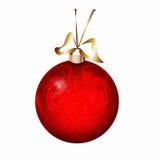 Roter Weihnachtsball Lizenzfreie Stockfotos