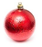Roter Weihnachtsball Stockfotografie