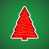 Roter Weihnachtsbaum Lizenzfreie Stockfotografie