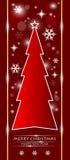 Roter Weihnachtsbaum Stockfoto