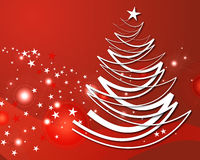 Roter Weihnachtsbaum Lizenzfreies Stockbild