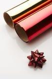 Roter Weihnachtsbogen Stockfotografie
