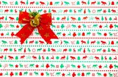 Roter Weihnachtsbogen Stockfotos