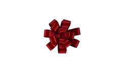 Roter Weihnachtsbogen für Geschenk Stockfotos