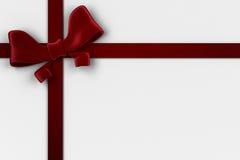Roter Weihnachtsbogen und -band Stockbilder