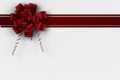 Roter Weihnachtsbogen und -band Stockbild