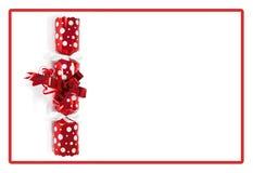 Roter Weihnachtscracker Stockbild