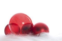 Roter Weihnachtsflitter Lizenzfreies Stockfoto