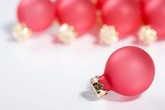 Roter Weihnachtsflitter Stockfotografie