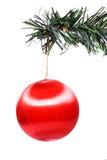 Roter Weihnachtsflitter Stockfoto