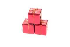 Roter Weihnachtsgeschenkkasten stockfotografie