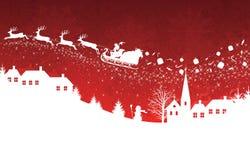 Roter Weihnachtshintergrund. Stockfotos
