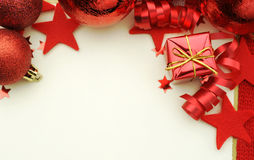 Roter Weihnachtshintergrund Lizenzfreie Stockfotografie