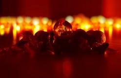 Roter Weihnachtshintergrund Stockbilder