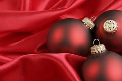 Roter Weihnachtshintergrund Stockfoto