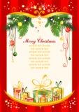 Roter Weihnachtshintergrund Lizenzfreie Stockbilder