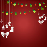 Roter Weihnachtshintergrund lizenzfreie abbildung