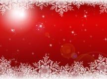 Roter Weihnachtshintergrund Hintergrund des neuen Jahres Lizenzfreies Stockfoto