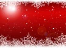 Roter Weihnachtshintergrund Hintergrund des neuen Jahres Stockfotos