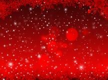 Roter Weihnachtshintergrund Hintergrund des neuen Jahres Stockfotografie