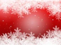 Roter Weihnachtshintergrund Hintergrund des neuen Jahres Lizenzfreie Stockfotos