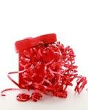 Roter Weihnachtskasten Stockbilder