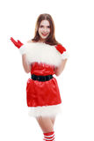 Roter Weihnachtsmann-Hut Stockbilder