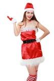 Roter Weihnachtsmann-Hut Lizenzfreies Stockfoto
