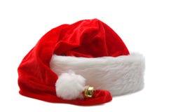 Roter Weihnachtsmann-Hut getrennt auf Weiß Stockfoto