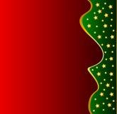 Roter Weihnachtsrahmen mit Schneeflocken Stock Image