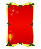 Roter Weihnachtsrand Lizenzfreie Stockfotografie
