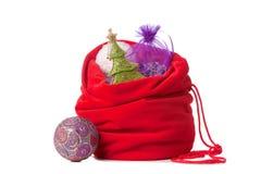 Roter Weihnachtssack   Lizenzfreies Stockfoto