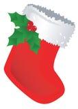 Roter Weihnachtsstrumpf Stockfotos